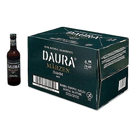 Daura Marzen Damm Cerveza Sin Gluten Caja de 24 Botellas x 330 ml Total 7 92 L