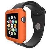 Gaddrt Ultra-Slim gel de silice mignon protéger housse pour Apple Watch série 1 42 mm (Orange)