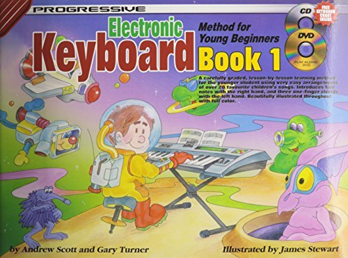 Progressive Keyboard Method for Young Beginners: Bk. 1: Book 1 / CD Pack (Progressive Young Beginners) by Scott, Andrew, Turner, Gary (January 1, 2004) Paperback