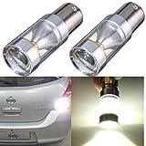 AUDEW 2 X 1156 T25-BA15S LED Auto Ampoule 6-SMD XB-D 1073 Feu Arrière/Recul P21W Voiture Lampe Blanc 6000K DC 12-30V 600LM