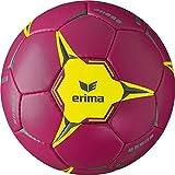 Erima Ballon de Handball Mixte Adulte, Berry/Jaune, Taille : 3