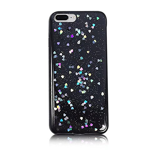 MOMDAD Coque iPhone 7 Plus Etui iPhone 7 Plus Coque iPhone 7 Housse iPhone 7 Case Cover Ultra-Thin Crystal Clear TPU Silicone Clair Exact Fit Soft Etui Souple TPU Coque iPhone 7 Plus Silicone Étui Hou Bing-Noir