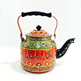 Shivay Arts Stainless Steel Multicolored Designer Kettle / Tea Pot