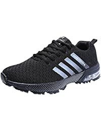 the latest 5515c 027d2 Zapatillas Deporte Hombre Zapatos para Correr Athletic Cordones Air Cushion  3cm Running Sports Sneakers 36-