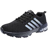 Zapatillas Deporte Hombre Zapatos para Correr Athletic Cordones Air Cushion 3cm Running Sports Sneakers 36-