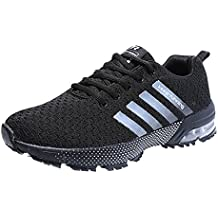 a675837181bcc Zapatillas Deporte Hombre Zapatos para Correr Athletic Cordones Air Cushion  3cm Running Sports Sneakers 36-