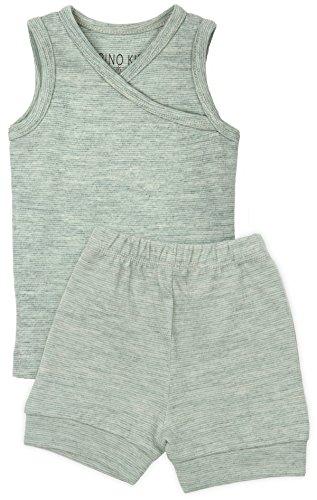 Merino Kids Lot de Pyjamas courts pour bébés de 1-2 ans, Menthe