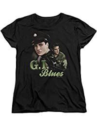 Elvis - G.I. Blues Womens T-Shirt In Black