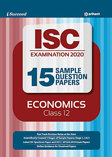 i-succeed 15 Question Sample Papers ISC Economics class 12 2019-2020