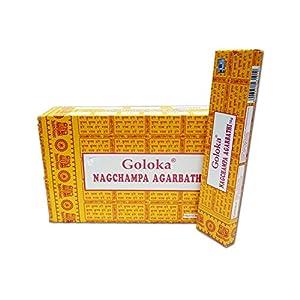 Räucherstäbchen Goloka Nag champa Agarbathi 16g gelbe Nagchampa 1er, 3er, 6er, 12er