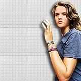 Saingace Wandaufkleber Wandtattoo Wandsticker,Selbstklebende Mosaik Wandaufkleber Fliesenboden Küche Badezimmer Wasserdicht (Weiß)