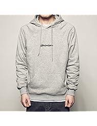Simple slim salvaje gris con capucha suéter hombres y jóvenes en los deportes y chaquetas de ocio,M