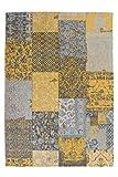 Moderner Designer Teppich Jacquard 150 Gold Gold 80cm x 150cm 100% Baumwolle Chenille