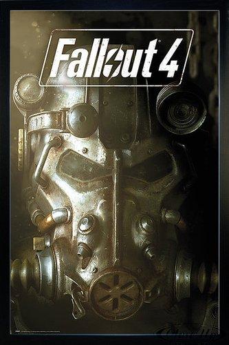 Fallout 4 Poster Maske (66x96,5 cm) gerahmt in: Rahmen schwarz