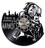 El Amor Es Sólo Un Nadness Reloj De Vinilo, Diseño Exclusivo, Hombres, Mujeres, Cumpleaños, Sala De Aniversario, Decoración De Oficina En Casa.