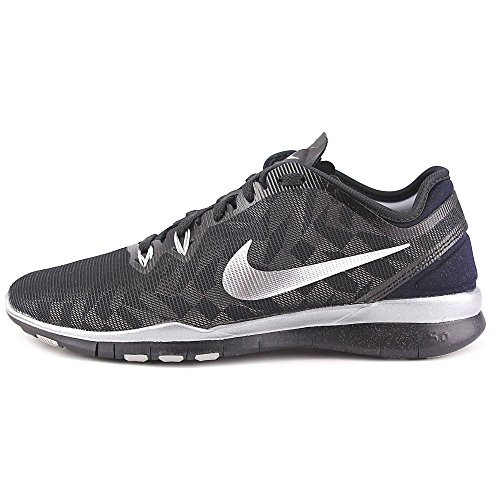Nike W Free 5.0 Tr Fit 5 Mtlc, Scarpe sportive, Donna Black/Metallic Silver