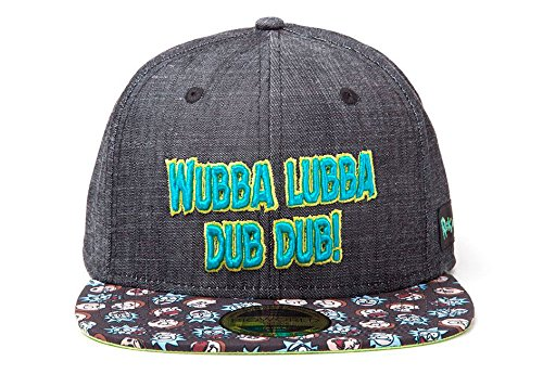 Rick and Morty Cap Wubba Lubba Snapback Blue