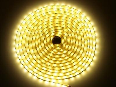 SET: LED Stripe, LED Streifen, LED Strip 12V Roll 5m 300 LED 3528 24W 610 Lumen IP20, + LED Netzteil