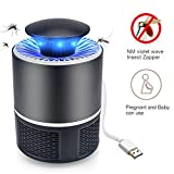 Mosquito Zapper Killer USB Silencieux - Portable Portable Insect Killer USB Alimenté Soft Light Insecte Insecte Bug Zapper Noir
