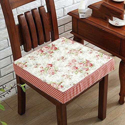 F-LFJBK Cotton Square Sitzkissen,Anti-Slip Thicken Soft Sponge Dining Stuhl Sitz Auflage,höhenbüro Autositz Matte Tatami Futon Butt Kissen-h 40x40x8cm(16x16x3inch)