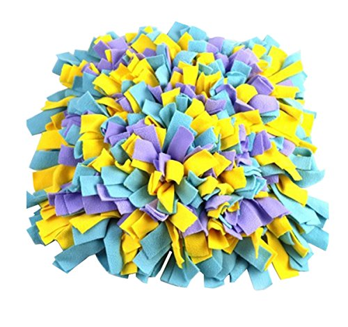 Comfysail Waschbar Hunde Geruch Snuffle Mat Schnüffelteppich für Haustier Ausbildung Fütterung Spielzeug Schnüffelwiese 43 x 43cm -