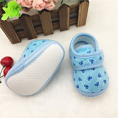Zhhlinyuan Baby Girls Boys Warm Cotton Crib Shoes Newborn Soft Sole Toddler shoes Blue