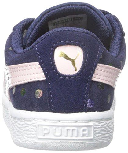 Puma Dotfetti V Daim Baskets Peacoat-Pink Dogwood