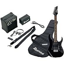 Ibanez ijrg200 BK Jumpstart Kit Negro – Kit de guitarra eléctrica negra con amplificador ...