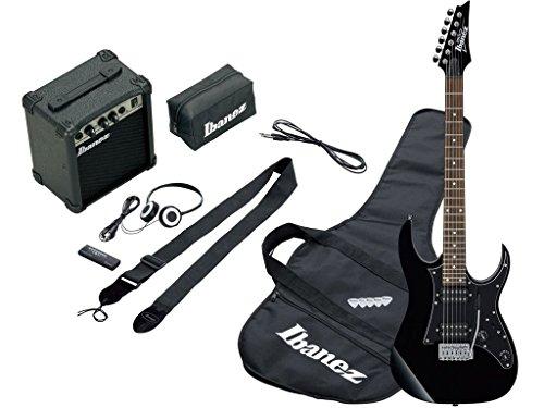 Ibanez IJRG200BK Jumpstart Kit schwarz-Kit schwarze Gitarre mit Verstärker 10W und Zubehör
