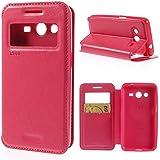 Handytasche Etui Flip Business Case Cover Samsung Galaxy A7 SM-A700F - SMART BOOK Ständer deep-pink