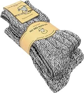 4 Paar ABS Stopper-Norweger-Socken Farbe Grau Größe 35/38