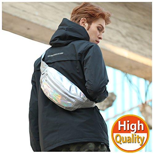 Bauchtasche herren damen, Gürteltasche Laser Geldbeutel Hüfttasche für Sport und Outdoor Aktivitäten,kann als Gürteltasche, Brusttasche oder Umhängetasche verwendet werden (Tasche Laser)