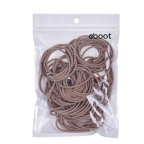100 Stück Haar Elastische Haargummi Pferdeschwanz Halter Haarband (Blond)
