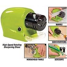 Highdas Cuchillo de cocina Afilador de cuchillos motorizado Inicio motorizado eléctrico Cuchillas Herramientas de precisión de potencia Sacapuntas