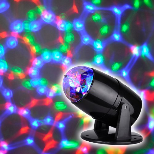 Novelty Multi Coloured LED Motorised Projector Disco Party Lamp