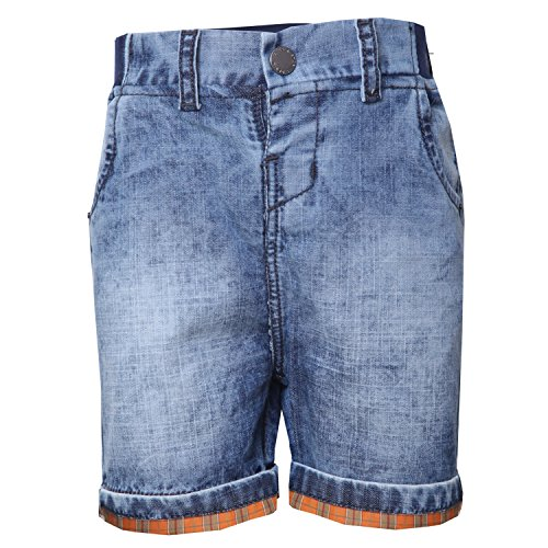 Tales & Stories Baby Boys Solid Denim Shorts
