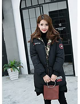 TT & ShangYi edredón de mujer, Abrigo Simple Casual liso algodón polipropileno manga larga, L