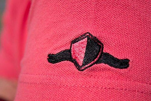 Cooles BLACK ANTZZ Polo-Shirt POLO ONE in 5 Farben mit Schriftzug und Emblem Coral