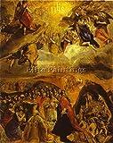 EL GRECO THE DREAM OF PHILIP II 1579 BILDER BILD OLGEMALDE MALEREI KUNST DEKO 120x100cm MUSEUMSQUALITÄT