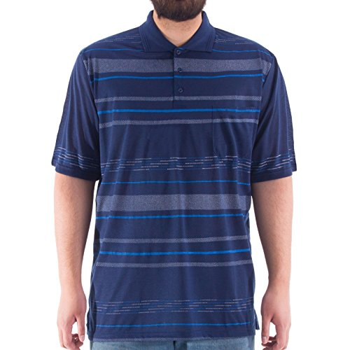 Romesa -  Camicia Casual  - A righe - Maniche corte  - Uomo blu navy
