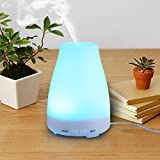 Finether Aroma Diffuser Ultrasonic Humidifier Air Mist Aromatherapy Purifier 100ML