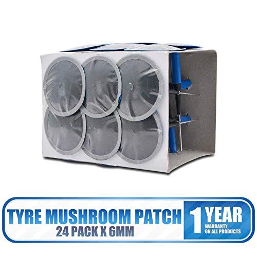 El paquete incluye: 24 parches de reparación de neumáticos. Material: goma. Color: azul. Peso del paquete: 200 g Cantidad: 24 unidades (1 caja). Aplicación: se puede utilizar en neumáticos de automóviles, motocicletas, camiones, autobuses y agricultu...