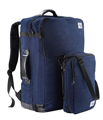 Cabin Max Nettuno duo hand luggage backpack and stowaway set suitable for Ryanair (Dark Blue Denim)