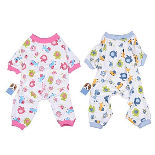 Cherishly Puppy Dog Kleidung Soft Cotton Pyjamas Strampler Pink Overalls Bodysuits Dog Nachtwäsche für kleine und mittlere Hunde, XL Brilliant -