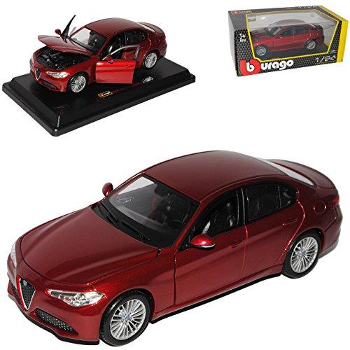 alfa-romeo-giulia-typ-952-limousine-rot-metallic-neueste-generation-ab-2016-1-24-bburago-modell-auto