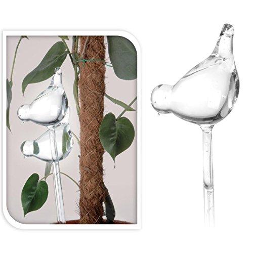 Bewässerungskugeln 2Stück Glas Vögel Pflanzenbewässerung Wasserspender Pflanzen