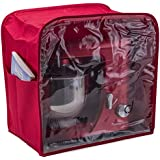 Andrew James Red Premium Food Mixer Dust Cover With Clear Viewing Window- Suitable for all All Kenwood Chef and Andrew James Food Mixers Includes 2 Year Warranty