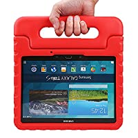 NEWSTYLE Samsung Galaxy Tab S 10.5 Kiddie Case - Light Weight Shock Proof Convertible Handle Stand Kids Friendly for Samsung Tab S 10.5-Inch Tablet SM-T800 SM-T805 (Red)