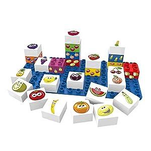BIOBUDDI Learning Food 27 pcs 27pieza(s) - Bloques de construcción de Juguete (Multicolor, 27 Pieza(s), Plaza, Imagen, Preescolar, Niño/niña)