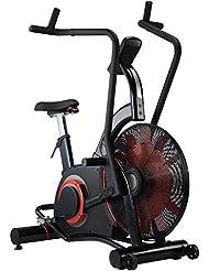 AsVIVA F1 Air-Bike Pro Heimtrainer und Ergometer, Pro Turbinen Trainer mit Riemenantrieb inkl. Fitnesscomputer, schwarz
